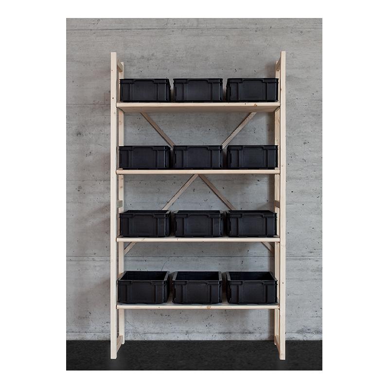 wandregal aus massivem tannen fichtenholz. Black Bedroom Furniture Sets. Home Design Ideas