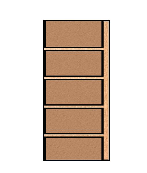 Holz Anbauregal mit 4 Tablar