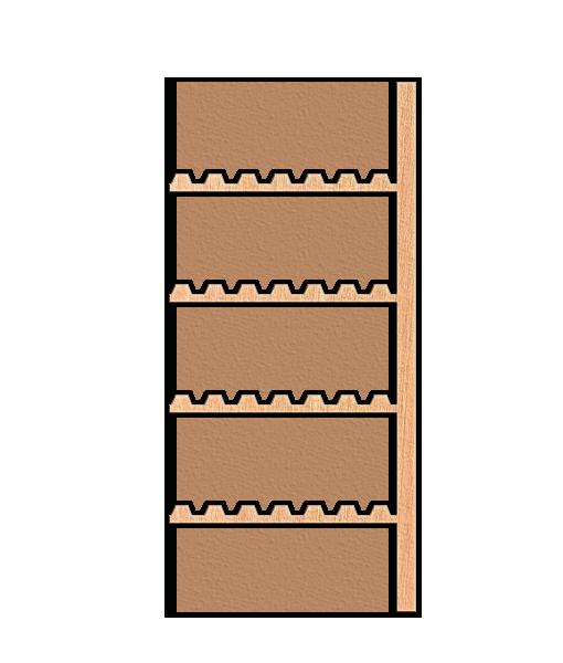 Holz Weinanbauregal mit 4 Tablar